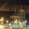 Image of Port of Oakland marine terminal night gate breakthrough hailed