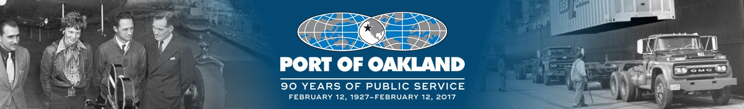 Image of Port of Oakland turning 90, Mayor declares Port of Oakland Day