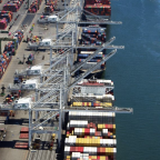 Thumbnail of Port of Oakland cargo volume up while vessel congestion continues