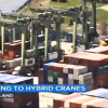 Image of Port yard cranes go hybrid (ABC news)