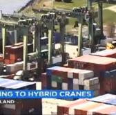Image of Port yard cranes go hybrid (ABC news)