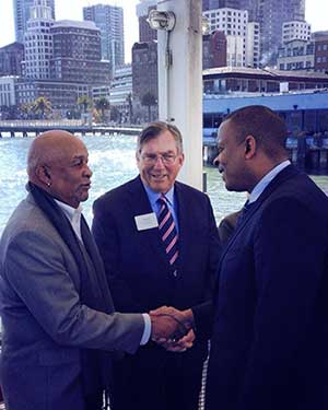 U.S. Secretary of Transportation Anthony Foxx Visits Port of Oakland.