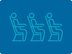 Image of 75 passenger flights daily, 4.6 million passengers in 2020